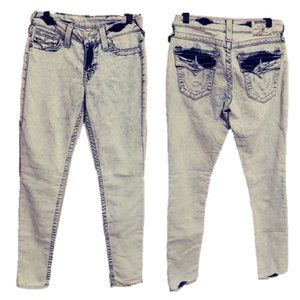 True Religion Acid Wash Skinny Jeans